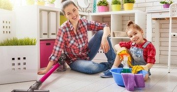 Tips on household cleaning with children