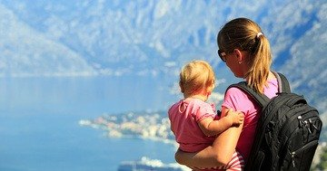 Tips for child care whilst travelling with a small child
