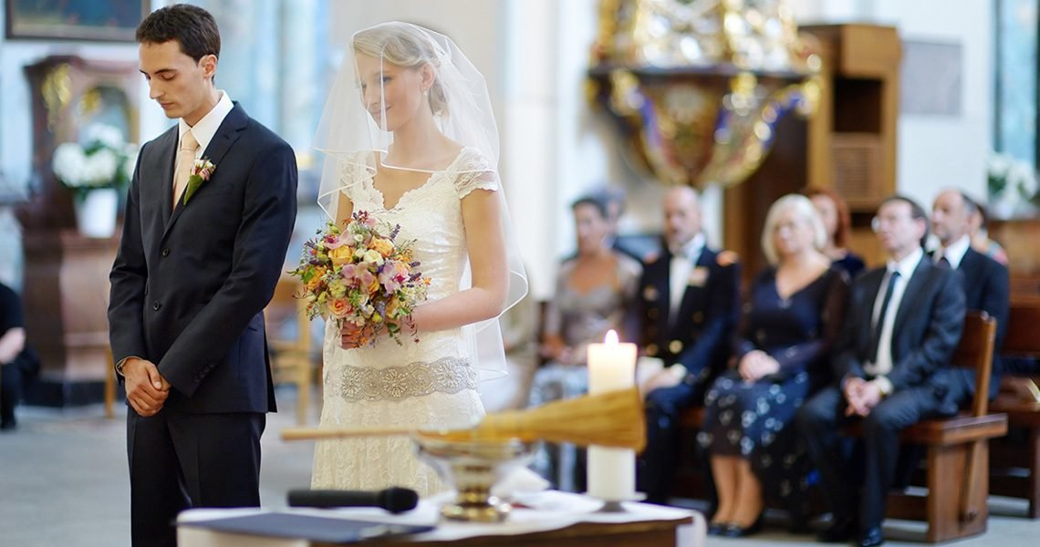 Attending a church wedding requires a bit of tact from attending guests, online magazines uk advise